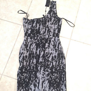 BCBG Max Azria M Black Gray Bodycon Dress